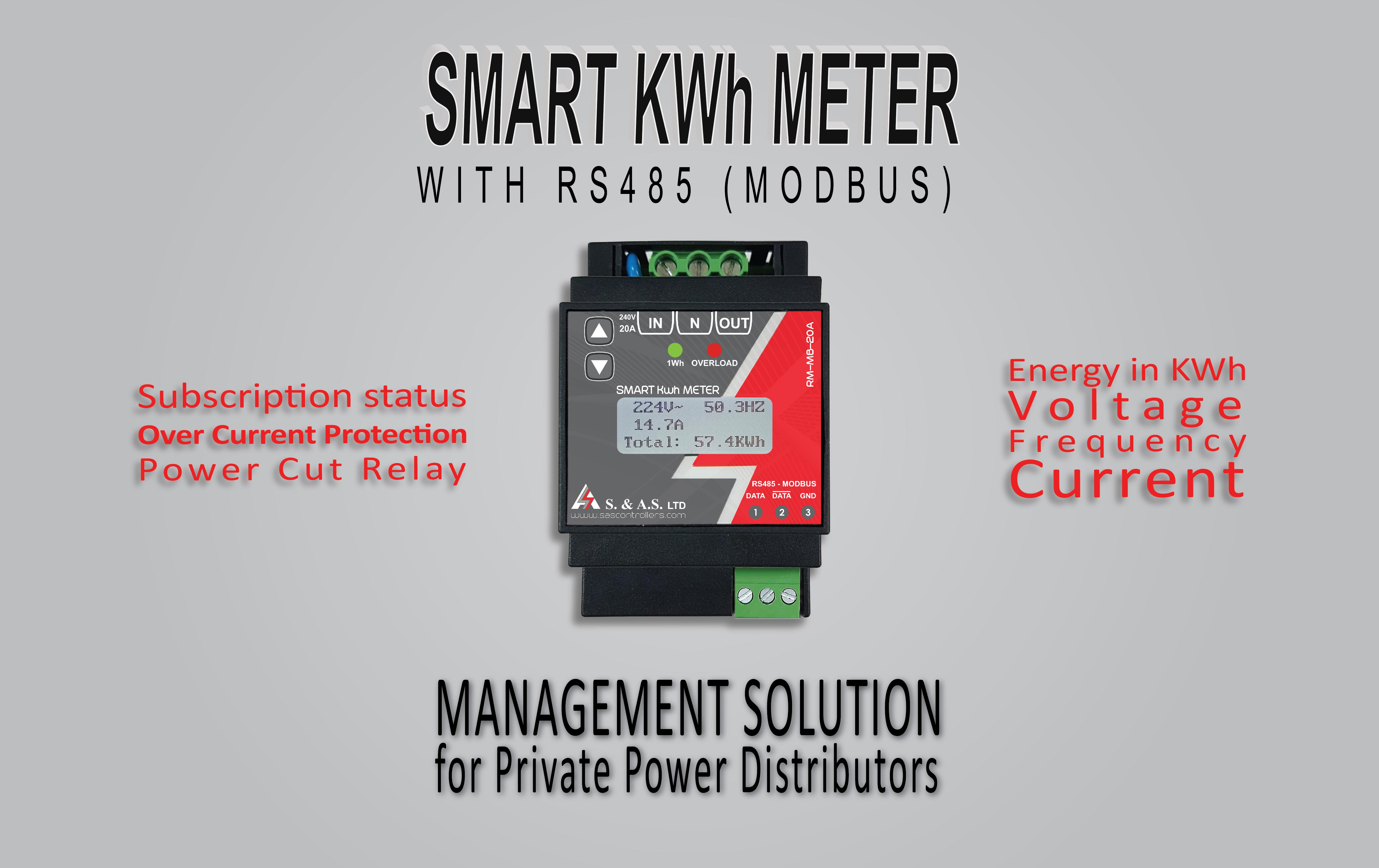 SMART KWHMETER WITH RS485 (MODDBUS)
