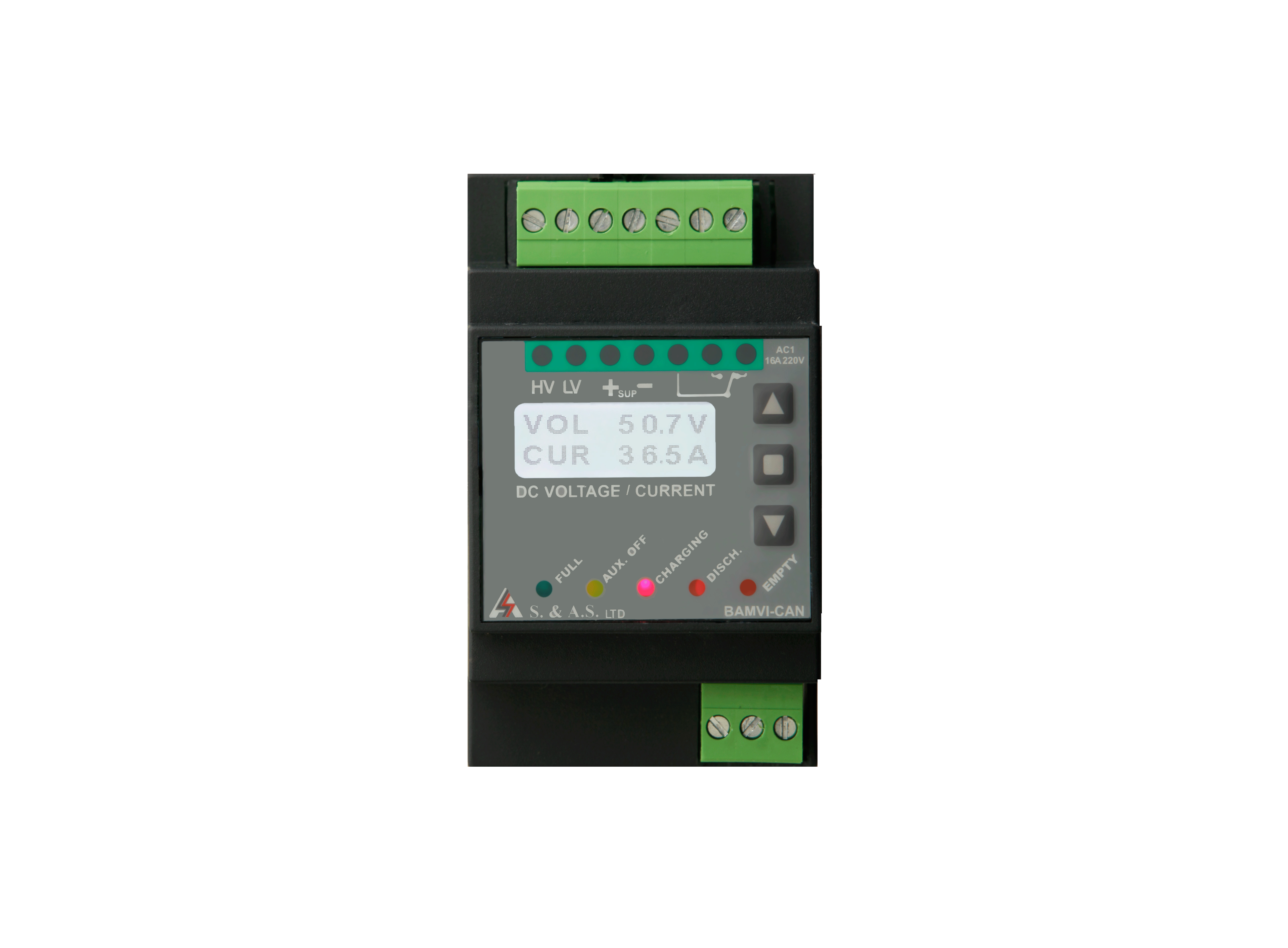 DIGITAL  BATTERY  VOLTAGE  & CURRENT  MONITOR W CAN BUS</br>BAMVI / C
