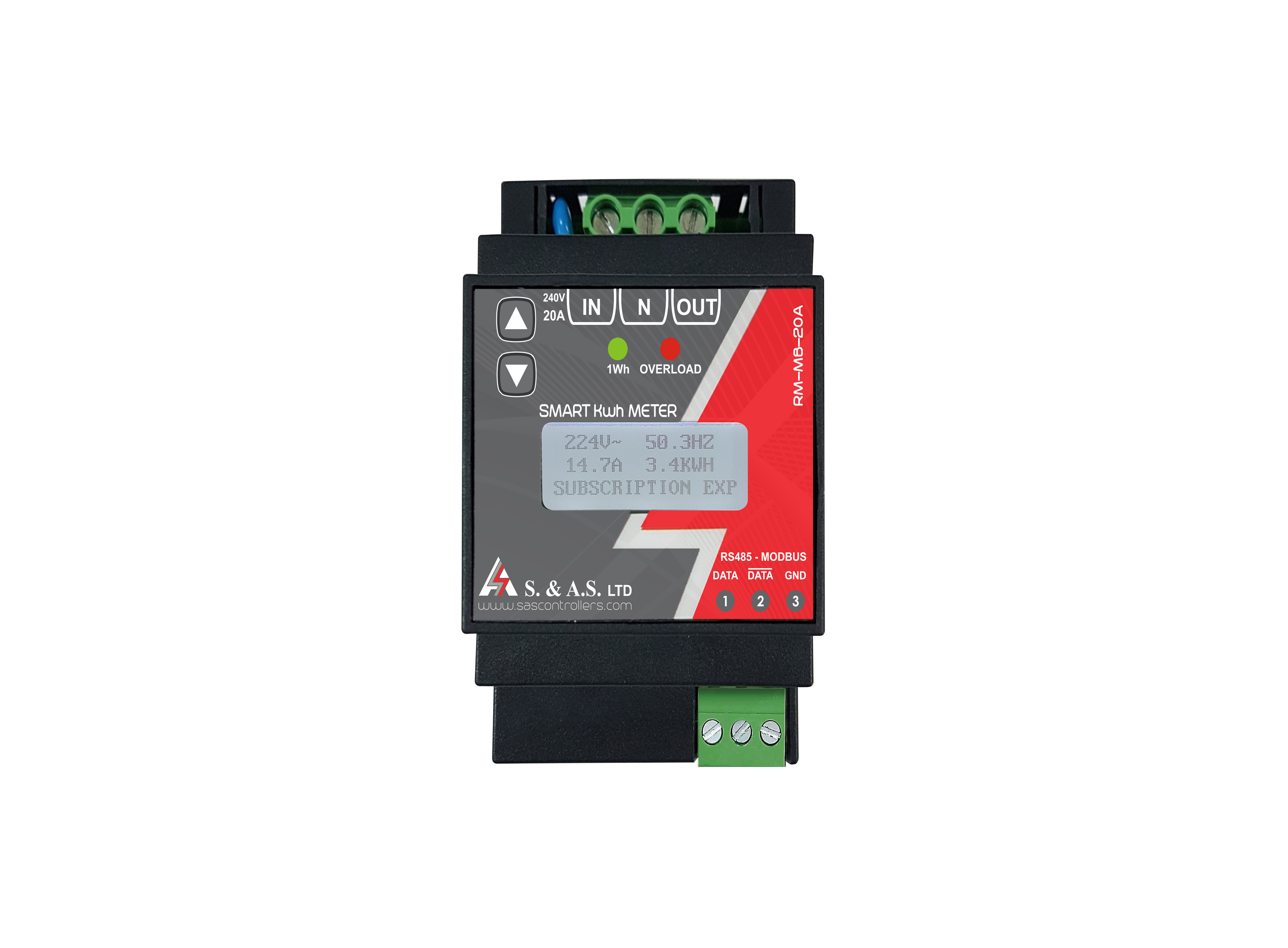 SMART   KWHMETER   WITH   RS485   (MODBUS)</br>RM-MB-20A